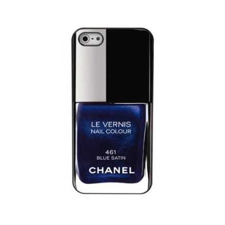 capinha Chanel Case iphone blue satin